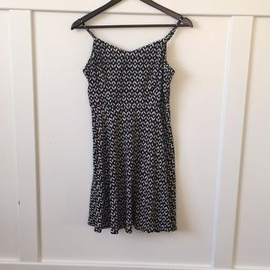 Black and white spaghetti strap summer dress